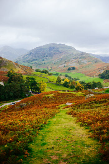 Lake District Ullswater Autumn Beauty In Nature Cloud - Sky Day Environment Field Land Landscape Mountain Mountain Range Nature No People Non-urban Scene Outdoors Plant Rolling Landscape Rural Scene Scenics - Nature Sky Tranquil Scene Tranquility