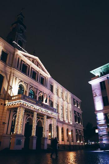 Riga nights Old Town Riga Europe Lights City Exploring Rain Reflection Latvia Lithuanian Travel Samsung S7