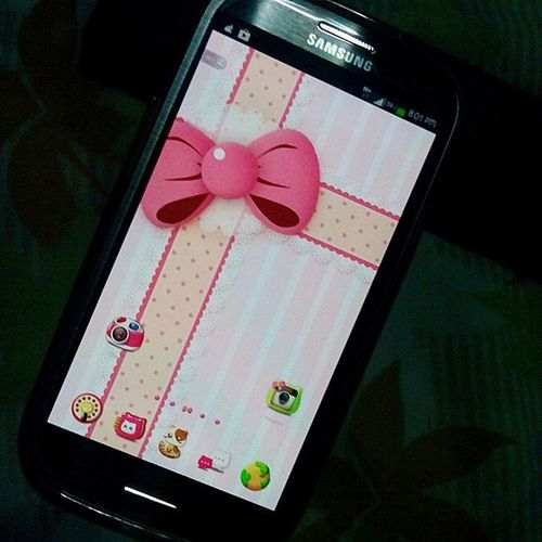 Pinky Cat theme Golauncher Istilllovethisphone Walangkupasbaby LOL GS3