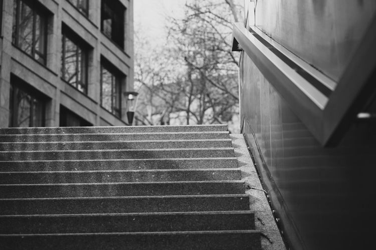 Streets and Stairs showing direction! Cologne NRW Staircase Steps And Staircases Building Exterior No People Outdoors Low Angle View Focus On Foreground The Way Forward Direction City Sony SONY A7ii Streetphotography Street Photography Streetphoto_bw EyeEmStreetshots 17.62° Built Structure City Day Low Angle View