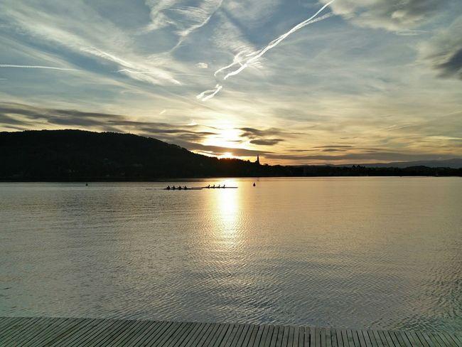 Sunset Lake Skyporn
