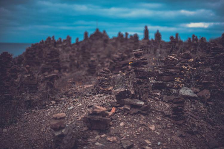 Stacks Of Rocks Against Sky