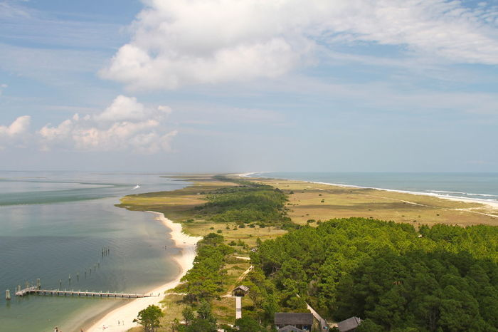 Coastline Outer Banks, NC Perspective Aerial Photography Aerial View Beach Beauty In Nature Cloud - Sky Day Grass Horizon Over Water Island Nature No People Outdoors Scenics Sea Sky Tranquil Scene Tranquility Tree Vanishing Point View From Above Water