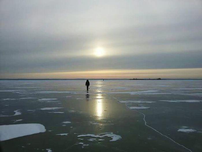 The Great Outdoors - 2017 EyeEm Awards Lake Ice Winter Russia Horizon Skyscape Skyscraper Go Higher The Great Outdoors - 2018 EyeEm Awards