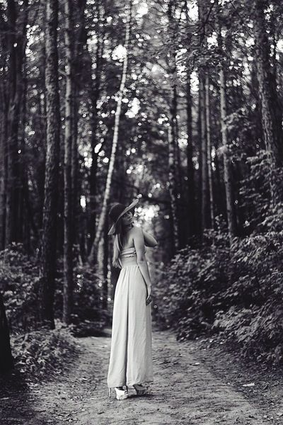 Blackandwhite Forest Girl Summer 2013
