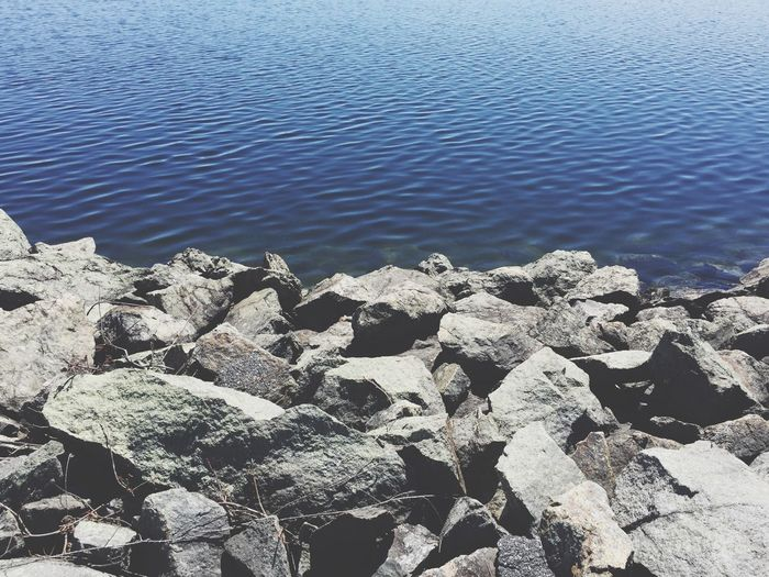 Water Day Rock - Object Nature Outdoors No People Tranquility Beauty In Nature Lake Rocks Rocks And Water