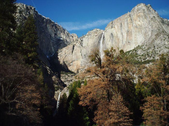 Scenic view of yosemite falls
