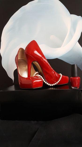 Shoe Pair High Heels Fashion No People Red Dress Shoe