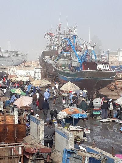 essaouira port Moroco Shi Nautical Vessel Sea Harbor Arts Culture And Entertainment Beach Moored Market