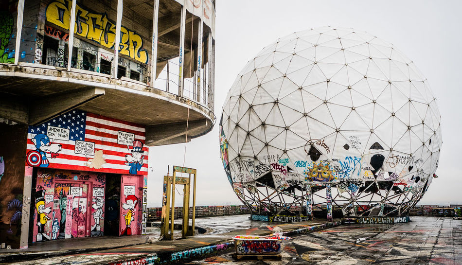 Architecture Cloudy Cloudy Day Cloudy Sky EyeEm Selects Radarstation Teufelsberg Berlin Architecture Building Exterior Built Structure City Day Dome Germany Grafitti Kunst Lostplace Lostplaces No People Outdoors Teufelsberg Travel Destinations Urban Urban Skyline Discover Berlin