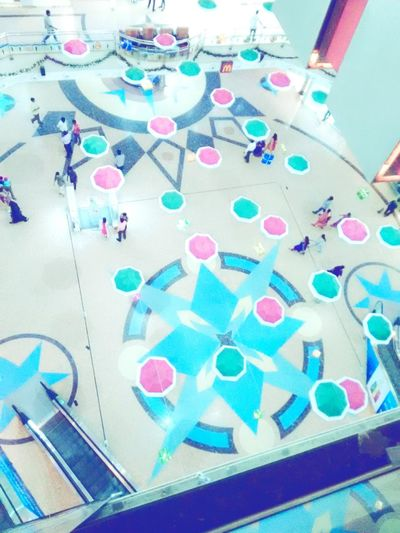 Top view of the Shopping Mall .. for Cristmas Celebration