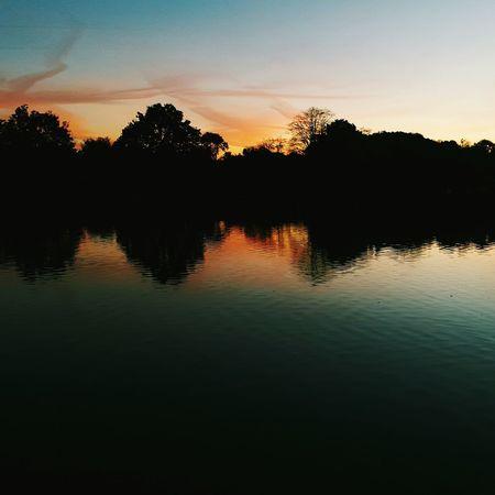 Beautiful Nature Naturelovers Sunseteffect Reflection Colorful Autumn Evenings Landscape Lake Pond