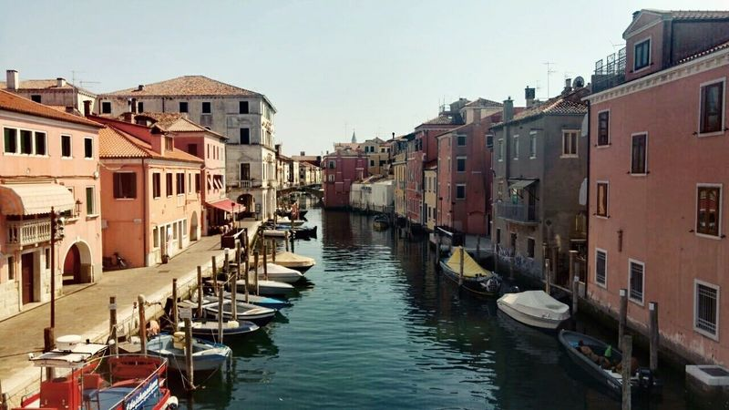 Travel Destinations Canal Water Gondola - Traditional Boat Nautical Vessel Tourism Vacations Architecture Travel Building Exterior Day Outdoors No People Overhead Cable Car Sky Italy
