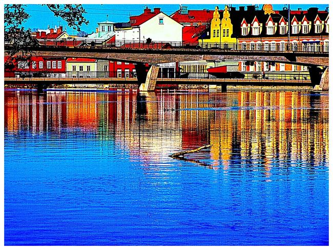 springtime Sweden The True Story Eskilstuna-streetphotography EyeEmNewHere Water Swimming Pool Blue Text Backgrounds Sky Architecture Built Structure Close-up Waterfront