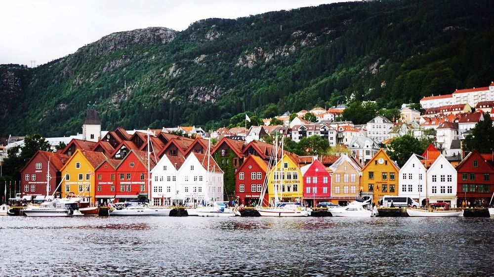 When in Bergen, Norway Architecture Mountain Landscape Bergen Norway Beautiful Norway