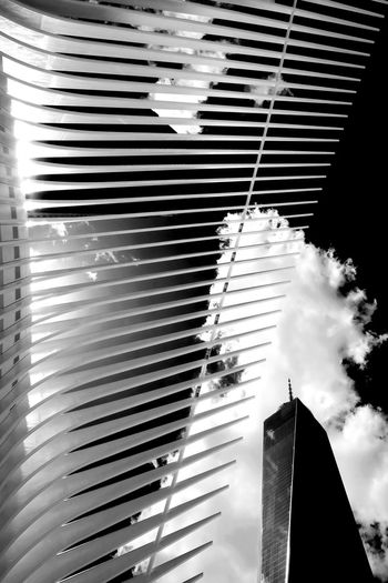 A view of the One World Trade Center in New York City. Architecture Blinds Building Exterior Built Structure Close-up Corrugated Iron Day Fujifilm Fujifilm_xseries Low Angle View Manhattan Modern New York New York City No People NYC One World Trade Center Outdoors Sky Skyscraper X-t2 The Architect - 2017 EyeEm Awards