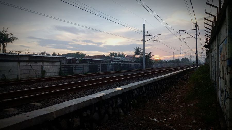 sunset✌ Sunset Jakarta Railway Train GoodDay❤ Cloud - Sky No People Sunset Train - Vehicle