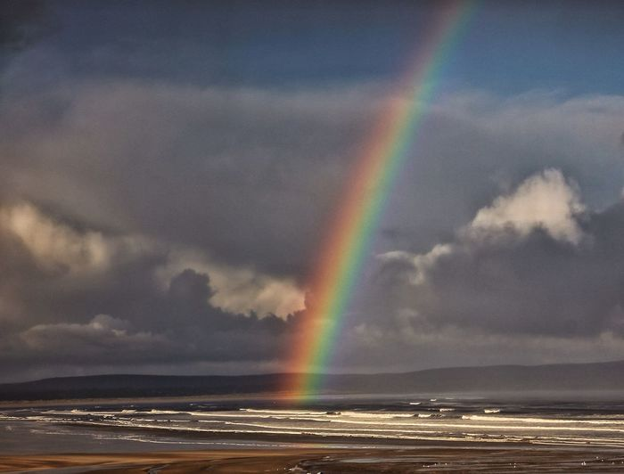 The unnoticed miracle of everyday light is exposed in the rainbow, the west of Ireland is a landscape beloved of rainbows. Between the rich light and the frequent rains, rainbows love to appear here. EyeEm Nature Lover Tadaa Community Life Is A Beach Cloud And Water