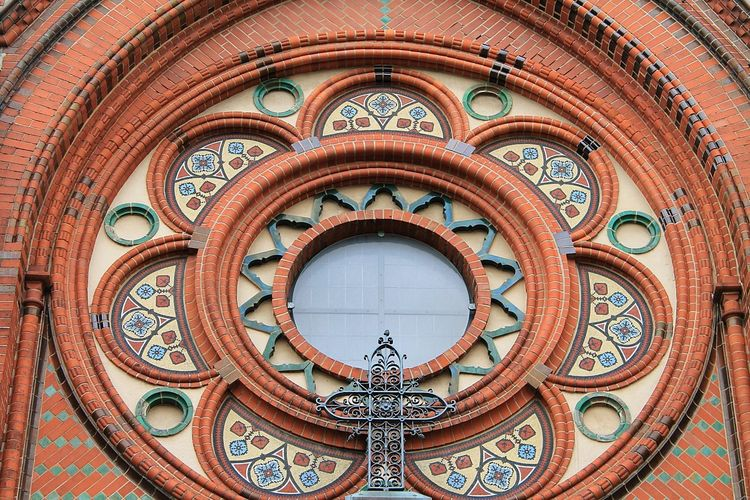 The Architect - 2015 EyeEm Awards Amazing Architecture Take Me To Church Architectural Detail Vintage Its All In The Details Old Church Church Window Holy Cross Colorful