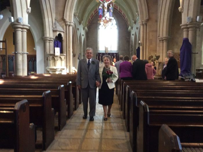 The proudest day of my life, seeing my Parents walking back down the aisle of the Church they had originally walked down 60 years early on the exact day 26th March 2015 / 26th March 1955. My parents have been through a lot in their marriage, but they have never stopped loving each other. So to arrange this day and to be with relatives. Including bridesmaids fro. The original wedding day and very good family friends. This is the Best Photo for Me, I truly was the proudest daughter, who too, the photo. I Love My Parents, so much and if anything it has shown me, that no matter what is going on in your lives, as long as you have someone to love and be with every day, than love will conquer all. Anniversary Church Dad And Mum Diamond Wedding Love My Best Photo 2015 Parents ♥ Proud Proud Daughter Right Now! Renewal Of Vows Walking Down The Aisle