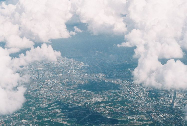 Aerial View Beauty In Nature City Cityscape Cloud - Sky Day Environment Landscape Nature No People Scenics - Nature Sky Travel