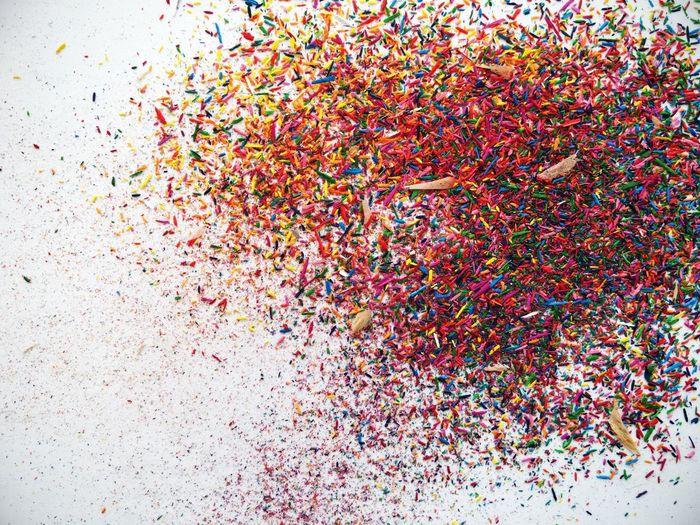 Colours Colourful Confetti Bunt Bunte Welt Anspitzer Abfall