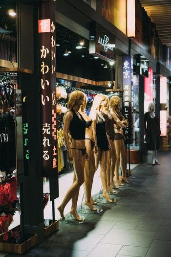 Women standing in store