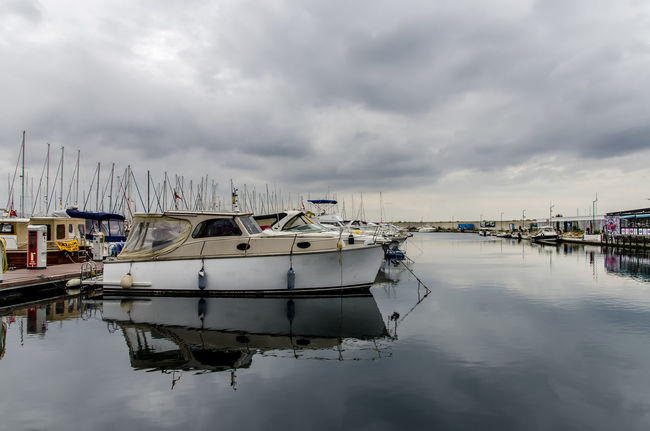 Cloudy day at the marina Water Cloud - Sky Sky Mode Of Transportation Reflection Yacht Marina Sailboat Sea Nautical Vessel Transportation Travel Istanbul Istanbuldayasam