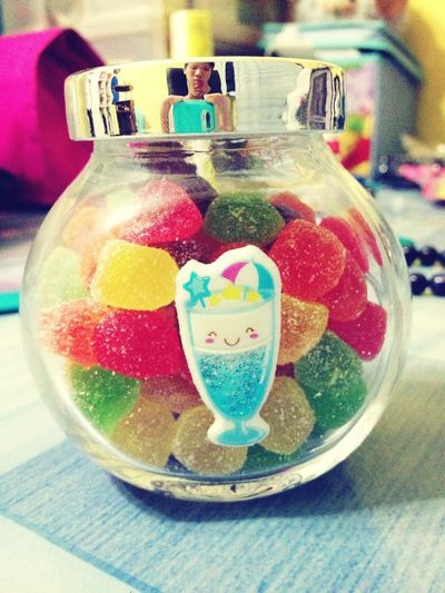 Munching on sweets from love