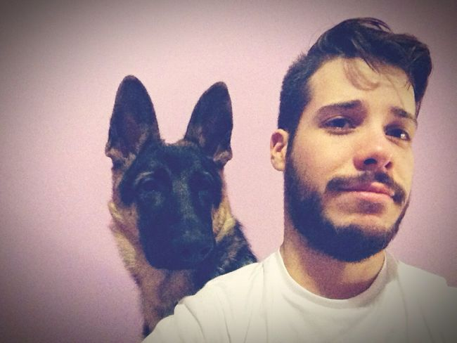 Pet Selfie ✌ Pet Selfie Dog Man & Dog Cool Beautiful Creatures Dogs Friends Puppy German Shepherd