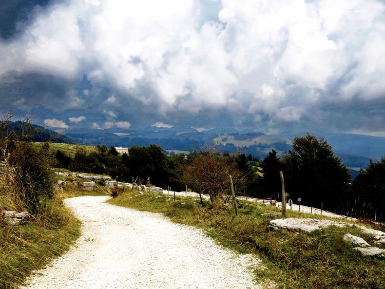 Beauty In Nature Changing Weather Cloudy Footpath Landscape_photography Mountain Trail No People Outdoors Overcast The Way Forward
