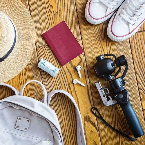 Travel flat lay