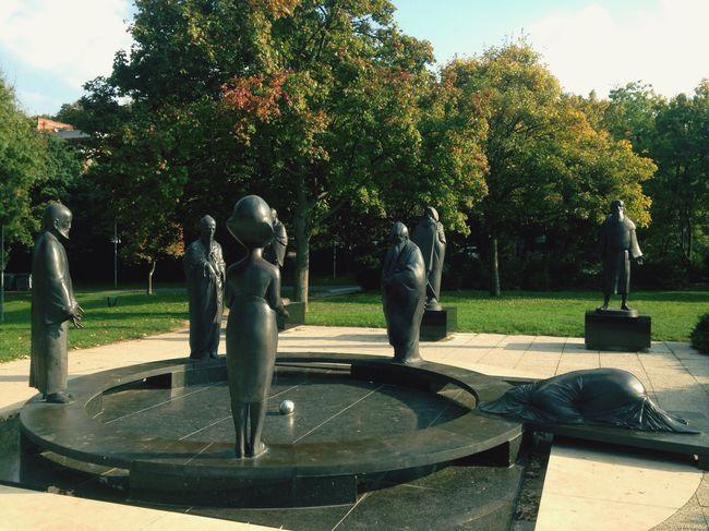 Statue Hungary Budapest Mahatma Gandhi Others Black