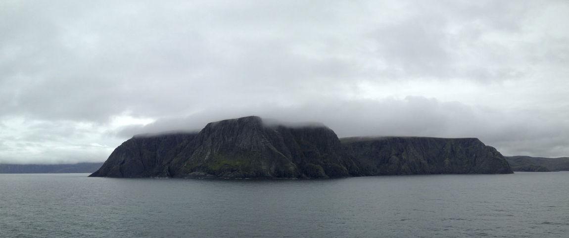 Clouds Fog Hill Majestic Mountain Mystic Nordkapp Seaside