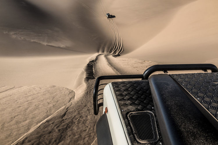 Close-Up Of Off-Road Vehicle On Dessert
