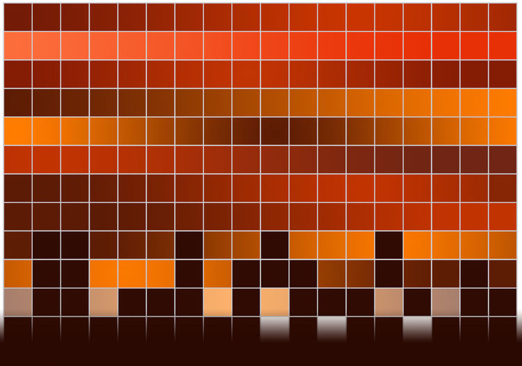 Gradient Red Square Square Orange Rectangular Grid. Backgrounds Gradient Background No People Orange Background Pattern Red Tint