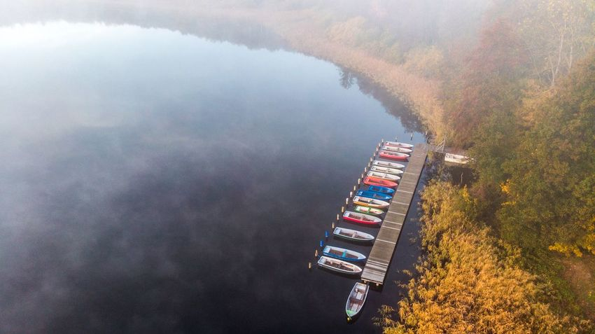 Dronephotography Boats Water High Angle View Aerial View Beauty In Nature Sea Nature Multi Colored No People Scenics - Nature Outdoors Tranquil Scene Tranquility