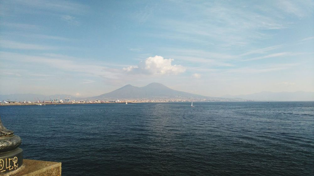 My City Vesuvio View Beautiful View ❤ Goodmorning EyeEm  Naples Sunny Day Sunday Sunday Morning Apertif Relaxing Sea Sea And Sky Sun Hot December All Perfect Smoke - Physical Structure Industry No People Mountain Outdoors Water Night