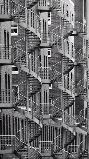Full frame shot of staircases outside the building
