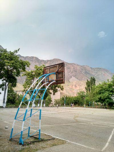 Toktogul, 1706009 Toktogul Kyrgyzstan Basketball Court Mountain