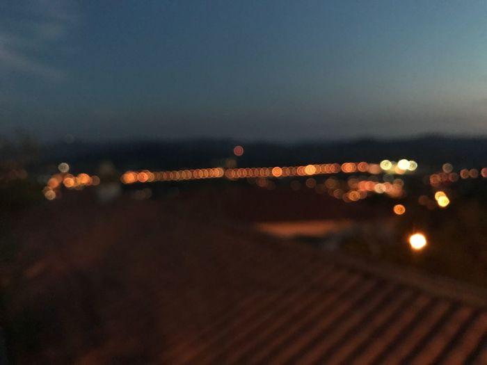 Illuminated Night Outdoors Defocused No People Sky City