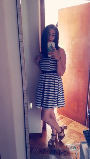 Dress Fashiongirl  Fashiongirl  Blackhair Girl Fashion Girltumblr Selfie Lipstick Outfit Redlips
