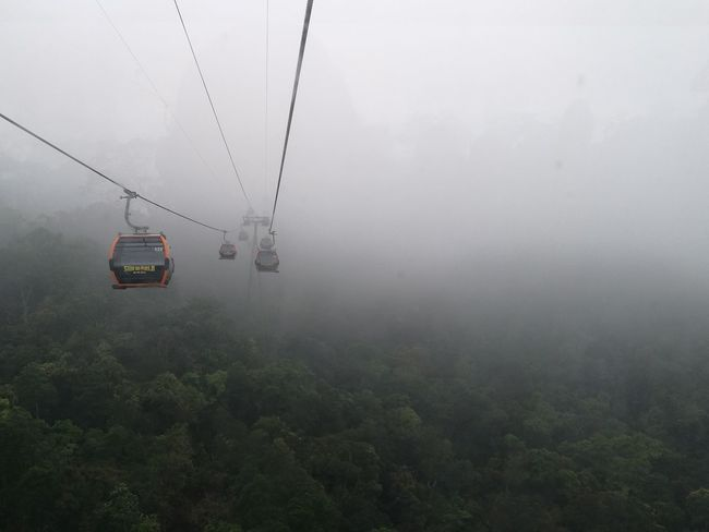 cable cars at Bana Hills , Vietnam Clouds And Sky Bana Hills Vietnam Travel Destinations Thunderstorm Water Torrential Rain Extreme Weather Car