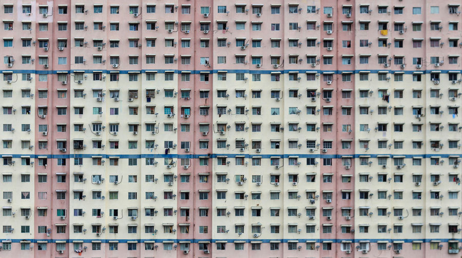 Repetition and window patterns of an old residential apartment. Architecture City Hong Kong Penang Abstract Apartment Backgrounds Building Exterior Built Structure Close-up Crowded Day Daylight Full Frame Malaysia No People No People, Outdoor Outdoors Pattern Repetition Residential Building Side By Side Sky Windows