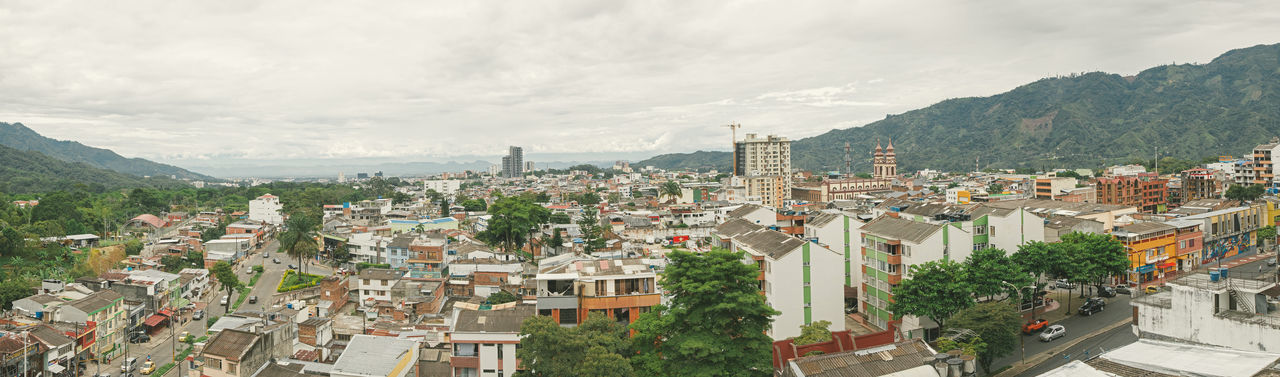 Colombia Ibagué Ibagué, Colombia Panoramic Architecture Building Building Exterior Built Structure City Cityscape Cloud - Sky Colombia ♥  Community Crowded High Angle View Nature Panoramic Photography Residential District Town