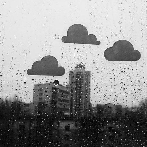 Balckandwhite Rain Emotions