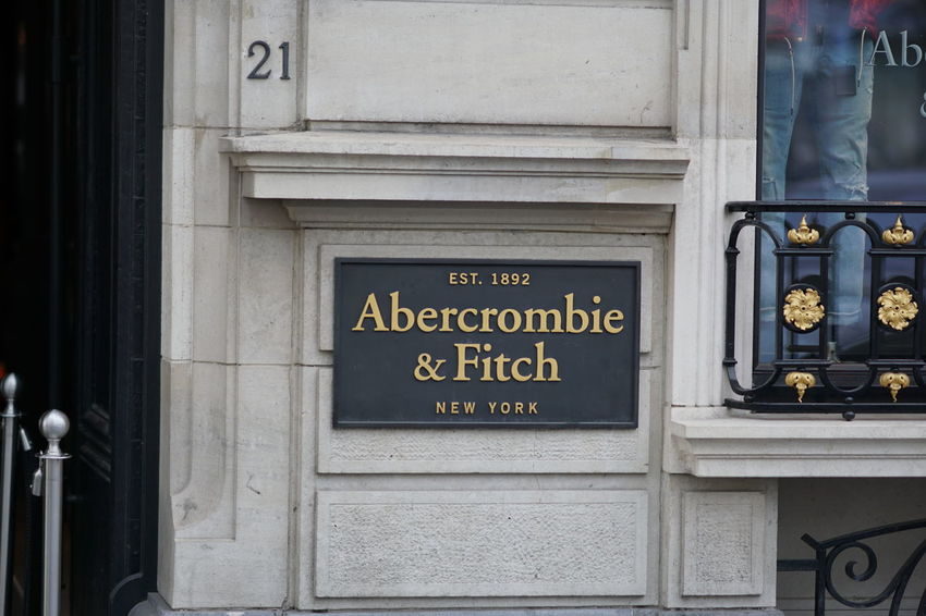 Brussels, Belgium - December 9, 2017: Abercrombie and Fitch store. Abercrombie & Fitch is an American retailer that focuses on upscale casual wear for young consumers Abercrombie Abercrombie & Fitch  Boutique Clothes Store Fashion Shopping AbercrombieAndFitch Brand Cloth Clothes Shop Clothing Shop Clothing Store No People Outdoors