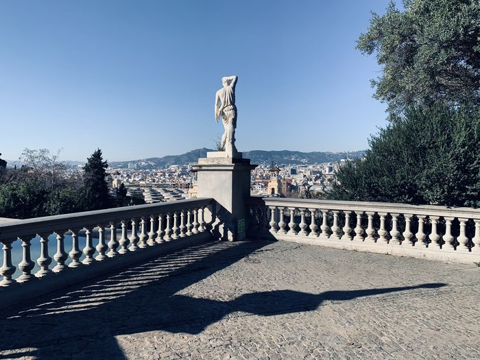 View of statues on sunny day