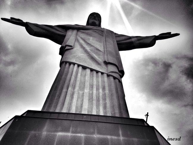 Cristo Redentor-Río De Janeiro Cristo Redentor Rio De Janeiro EyeEm Best Shots The Places I've Been Today EyeEm Best Shots - Black + White