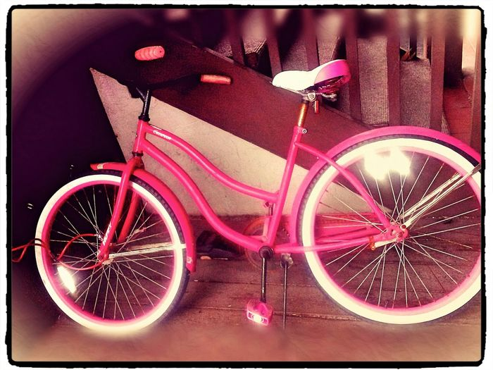 Bicycle Pink Take A Ride Hanging Out pretty in pink Photo Editing Antique Relaxin Brings Me Back